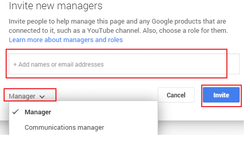 Google My Business Managers