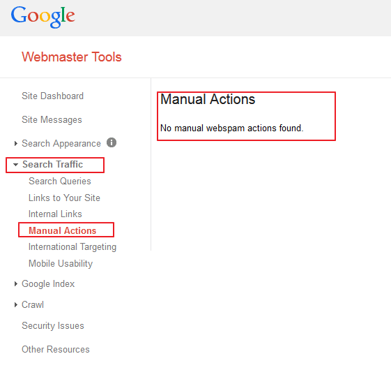 Google Manual Spam Action Google Webmaster Tools